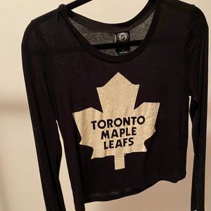 Toronto Maple Leafs Black Crop Top - Forever 21
